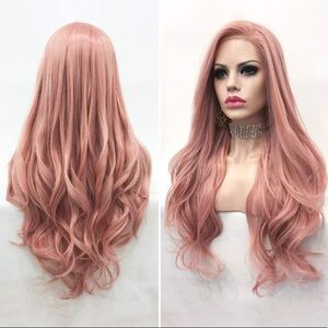 """💫 22"""" ROSE PINK NATURAL STRAIGHT LACE FRONT WIG💫"""